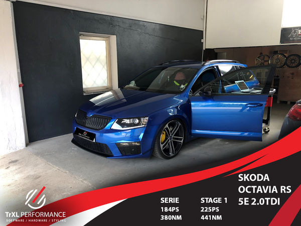 Softwareoptimierung Skoda Octavia RS 5E 2.0TDI 184PS Stage1
