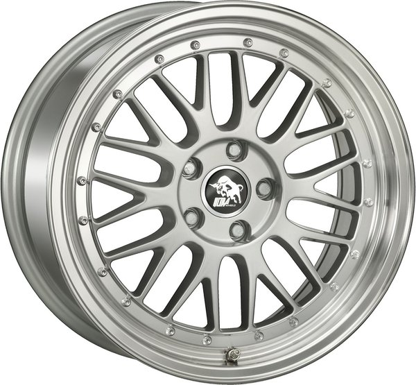 4x ULTRA WHEELS UA3 8.5X19 5X112 ET45 66.5 SILVER / LIP POLISHED
